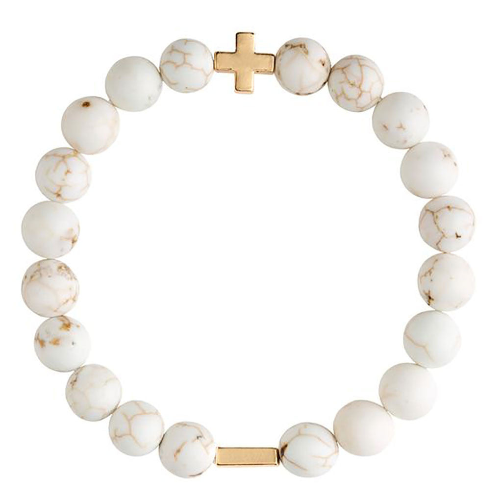 Fossil Jasper Elastic Bracelet - Charged - Palm Beach Athletic Wear