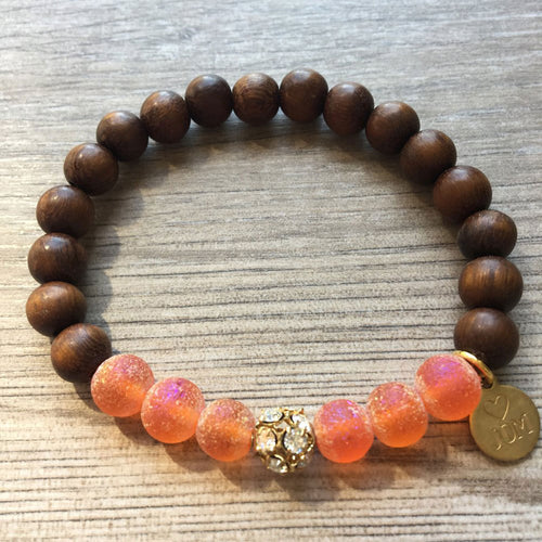 Coral Cones Connoisseur Beaded Bracelet - JOM Jewelry - Just One More - Palm Beach Athletic Wear