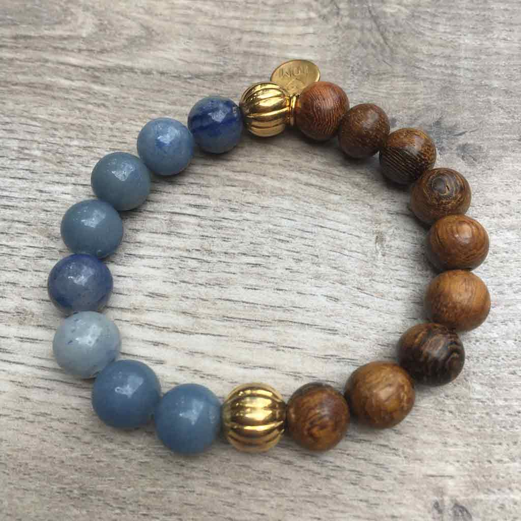 Midsummer Night's Dream Gemstone & Wood Beads w/Gold Accents