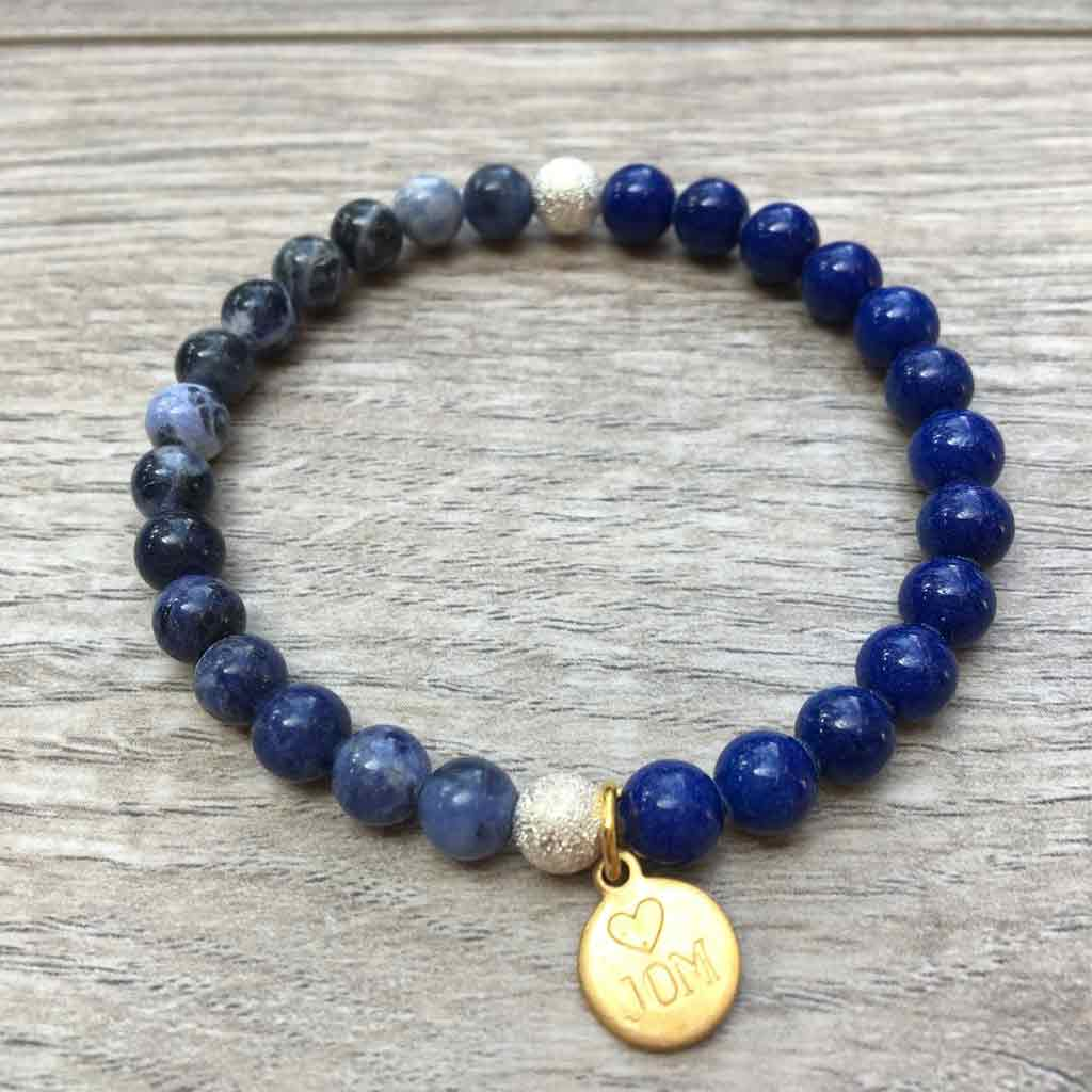 My Dance Your Space Gemstone Beads w/Buddha & Gold Wood Accents