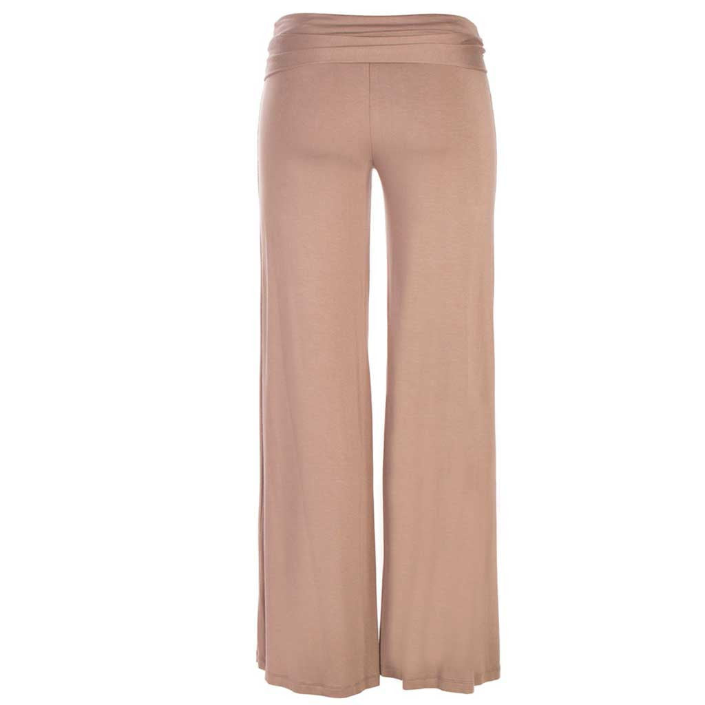 Jholie ballerina pant in brown mocca. Back view.