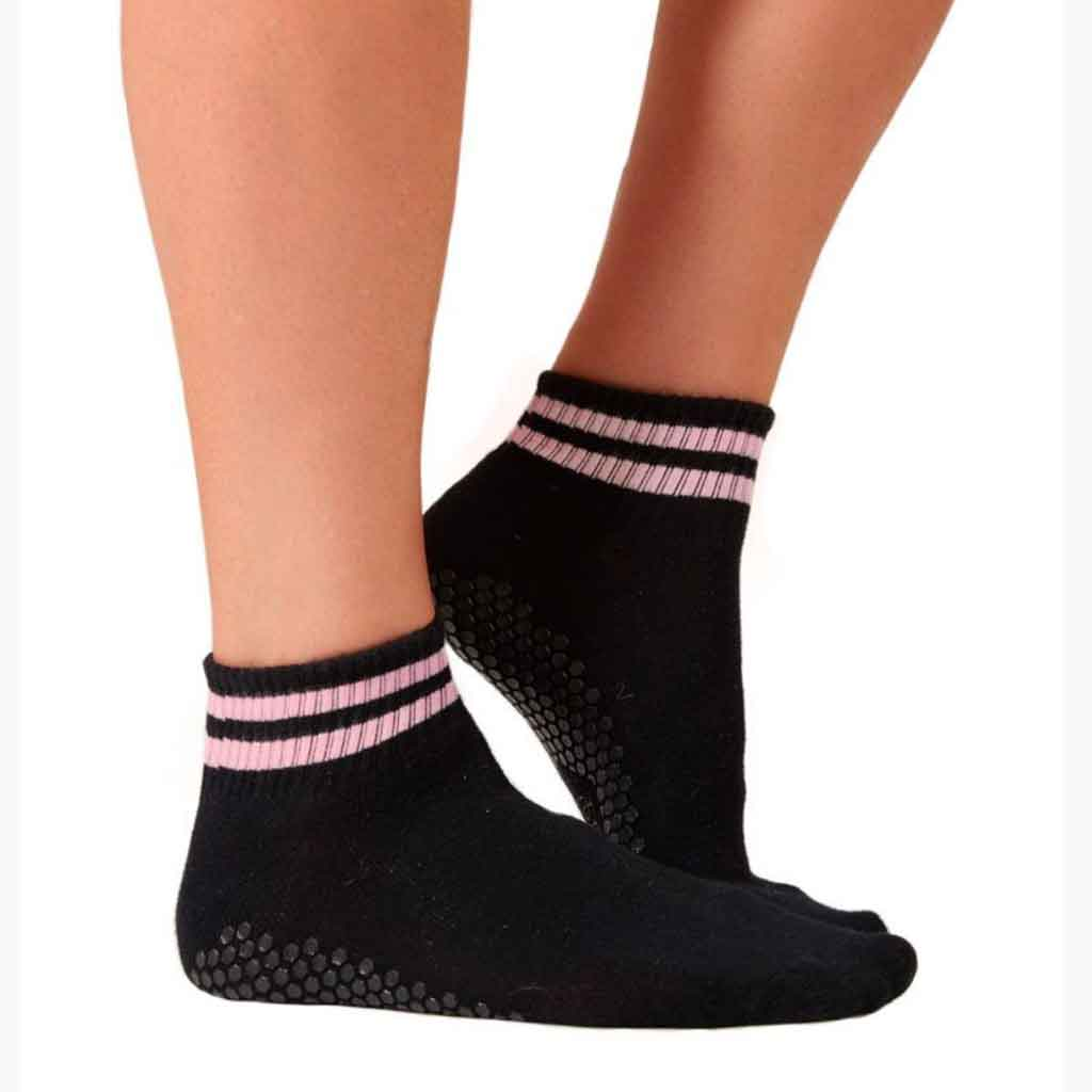 The Boyfriend Sock - Black & Pink - Lucky Honey - Palm Beach Athletic Wear