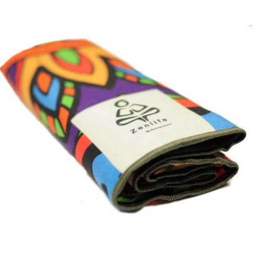 Mandala Spirit extra long absorbant yoga mat towel by ZenLife.