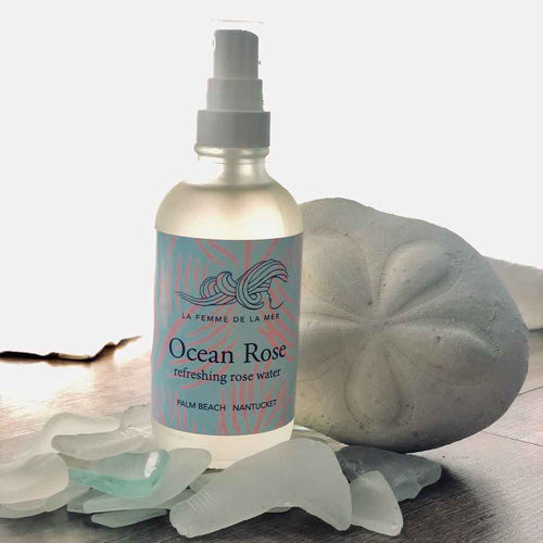 OCEAN ROSE – Refreshing Rose Water – 4 fl oz. / 120ml - La Femme De La Mer - Palm Beach Athletic Wear