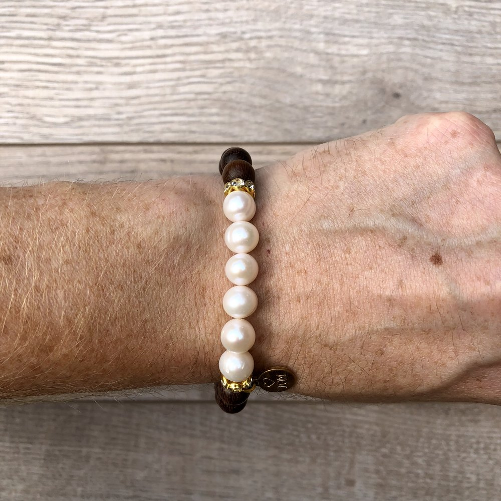 Since You Bean Gone Pearl Bracelet - JOM Jewelry - Just One More - Palm Beach Athletic Wear