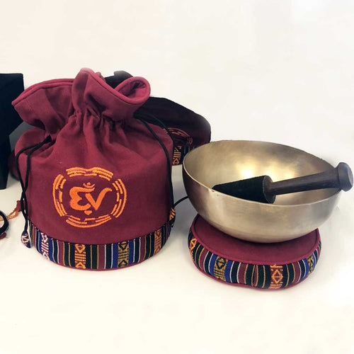 6 Inch Tibetan Singing Bowl Gift Set - Eastern Vibrations - Palm Beach Athletic Wear