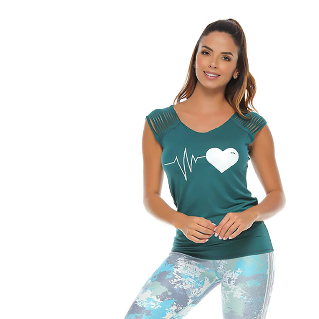 Starla Green T-Shirt - Protokolo - Palm Beach Athletic Wear