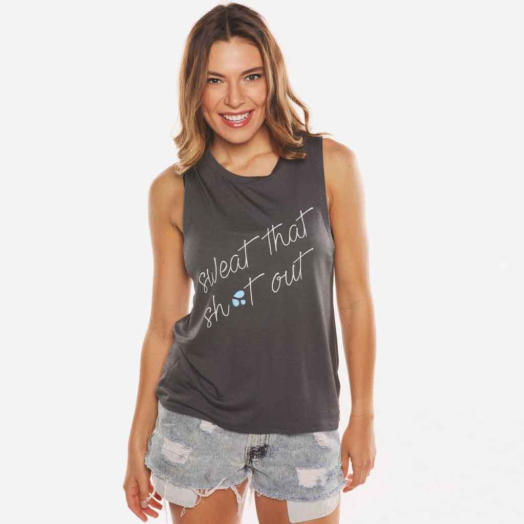 Sweat That Sh** Out Tank - House of Tens - Palm Beach Athletic Wear