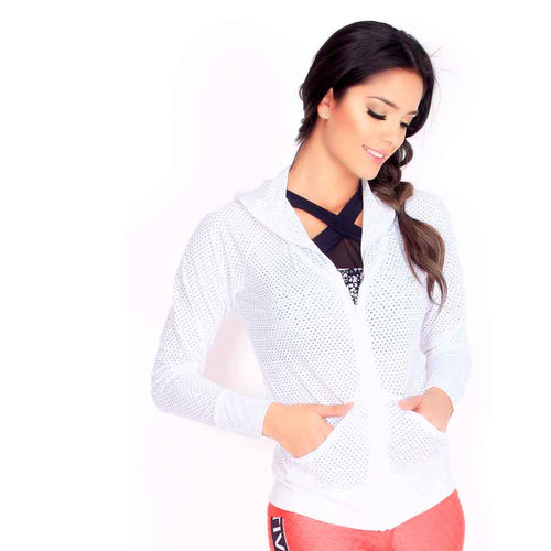 Tiara White Mesh Jacket