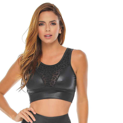 Tera Black - Red Sports Bra