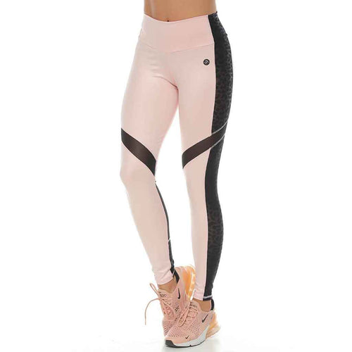 Victoria Pink and Black activewear leggings.