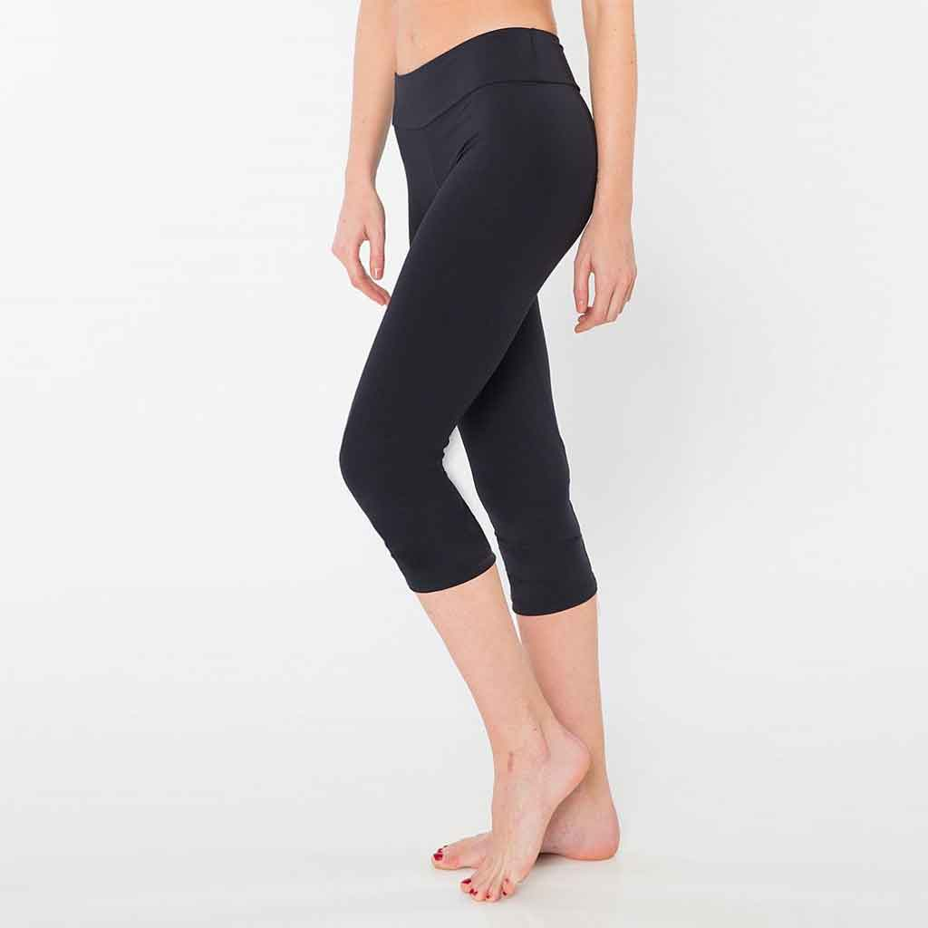Bluefish Sport Wide Band Fit Capri in black.