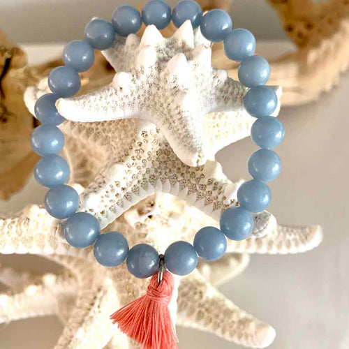 Angelite Bracelet - Kristen Lemoine - Palm Beach Athletic Wear