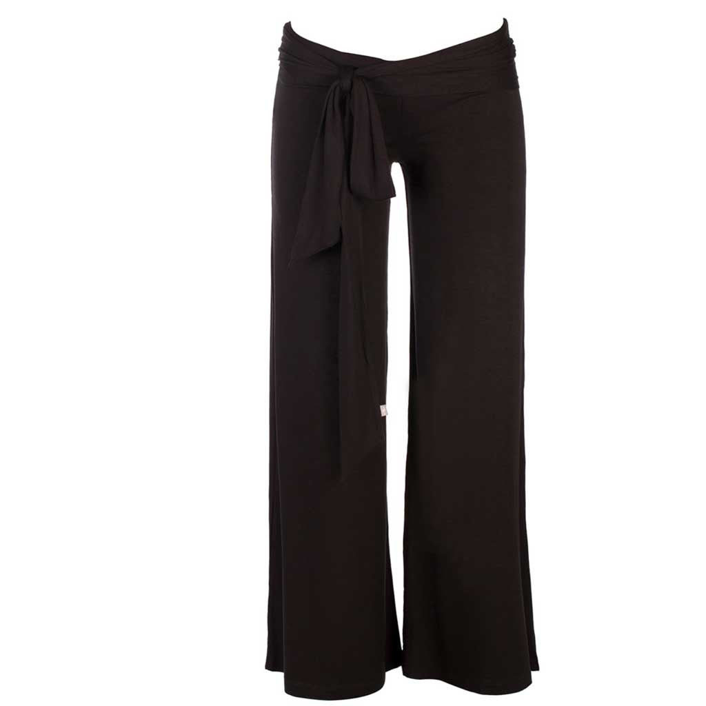 Jholie ballerina pant in black. Front view.