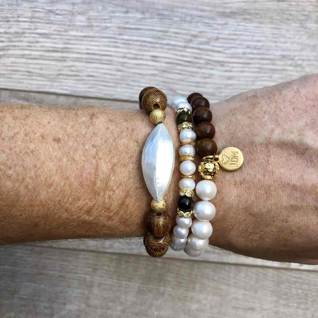 I Hear Ice Cream Bells Pearl Bracelet - JOM Jewelry - Just One More - Palm Beach Athletic Wear