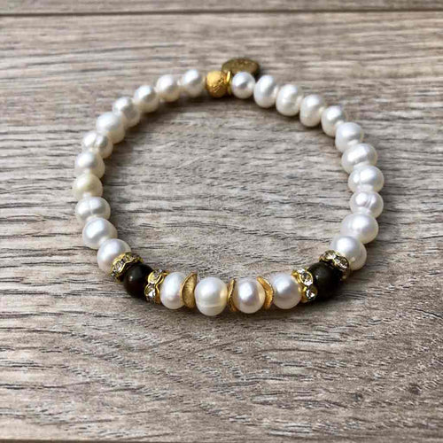 Bananas Need Not Apply Pearl Bracelet - JOM Jewelry - Just One More - Palm Beach Athletic Wear