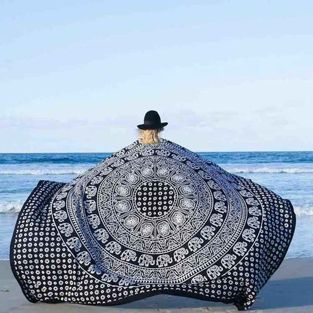 Beach Mandala Blanket - Magenta Coco - Palm Beach Athletic Wear