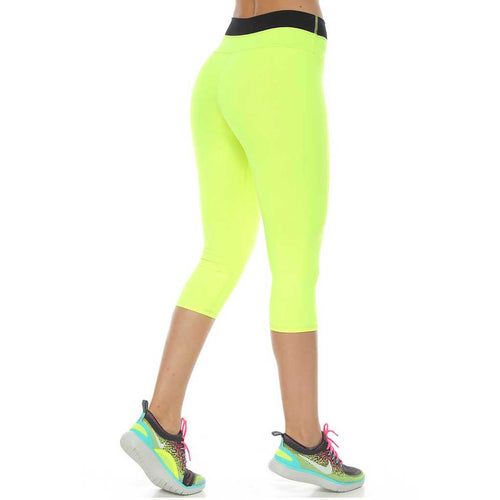 Neon Green Beverly Capri - Protokolo - Palm Beach Athletic Wear