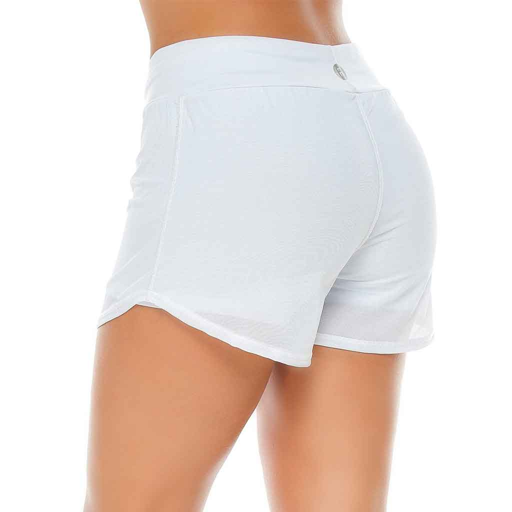 White Briana Shorts - Protokolo - Palm Beach Athletic Wear