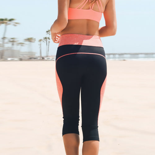 Coral Capri Yoga Leggings - Purple Lily - Palm Beach Athletic Wear