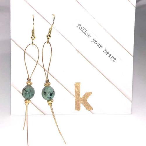 Follow Your Heart Teardrop Earrings - Kristen Lemoine - Palm Beach Athletic Wear