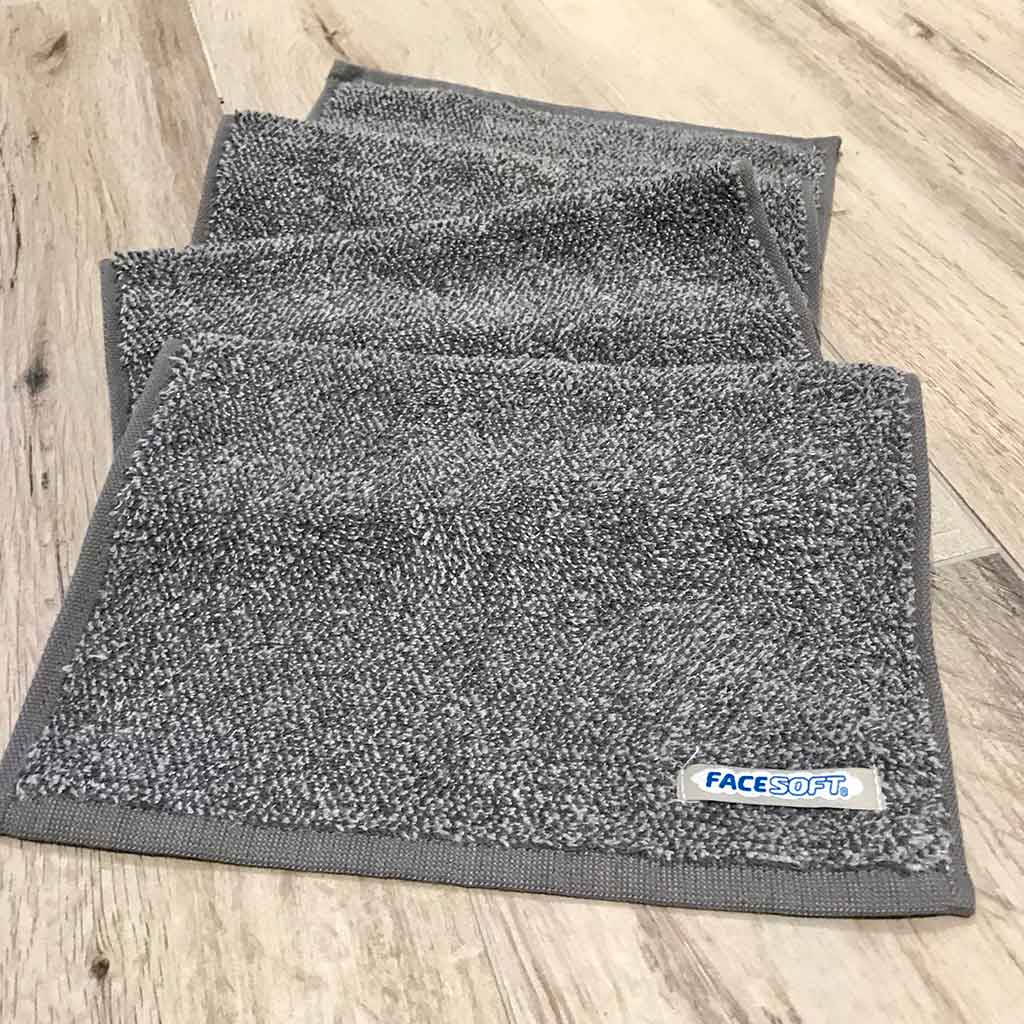 FACESOFT TOWELS CHARCOAL-DETOX ACTIVE TOWEL - face soft towel company - Palm Beach Athletic Wear
