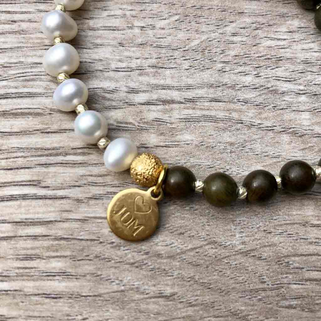 Gotta Have Good Humor Pearl Bracelet - JOM Jewelry - Just One More - Palm Beach Athletic Wear