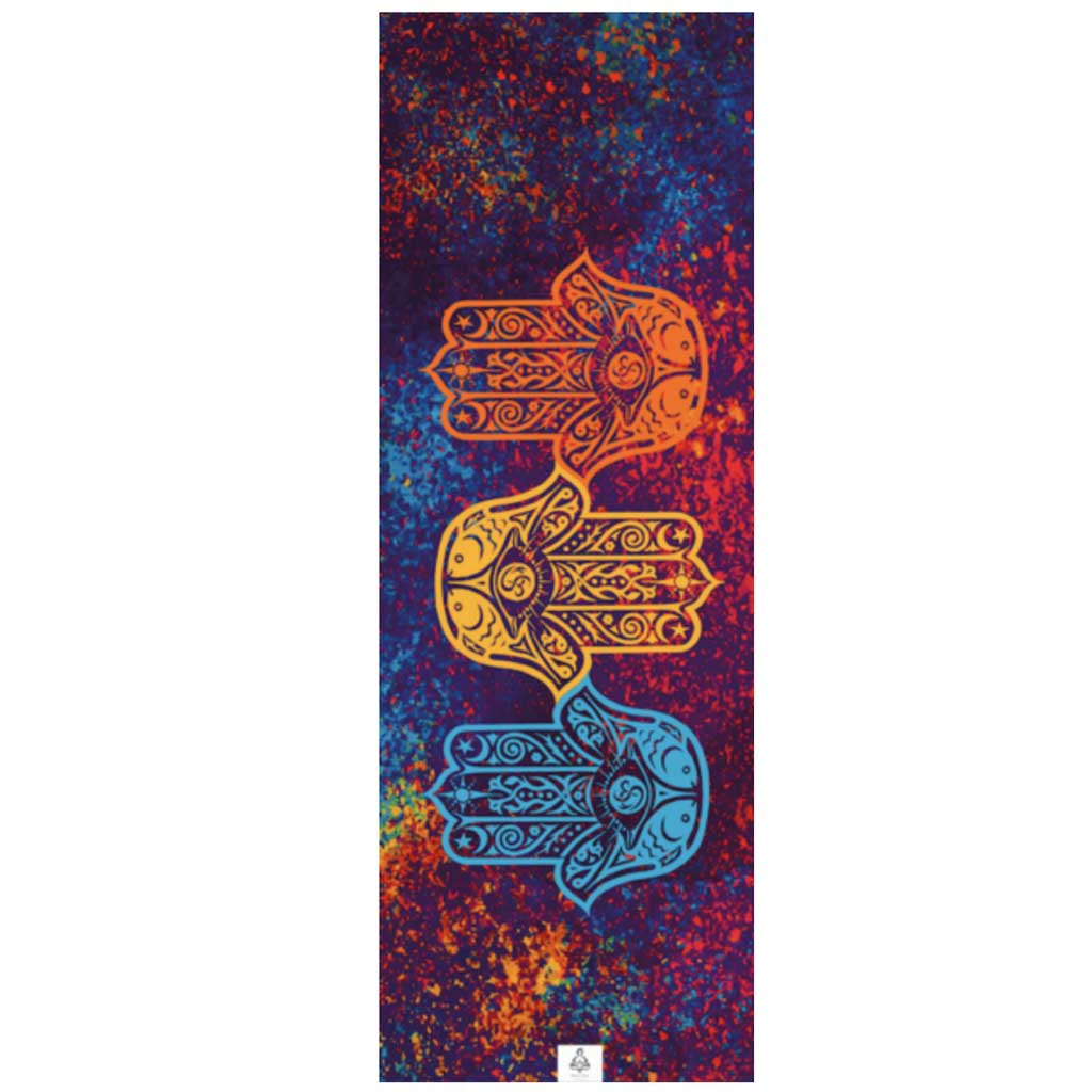 Yoga Mat Towel - Hamsa Trio - Zen Life - Palm Beach Athletic Wear