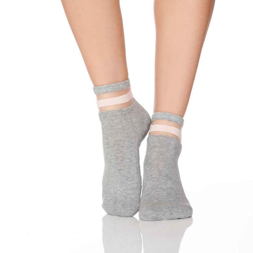 The Crew Sock - Light Grey - Lucky Honey - Palm Beach Athletic Wear