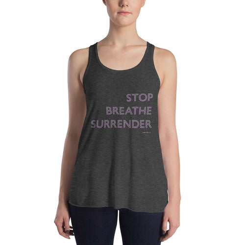 Emma Flowy Racer Tank - Stop Breathe Surrender - Palm Beach Athletic Wear - Palm Beach Athletic Wear