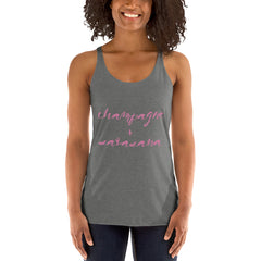 Champagne + Savasana Women's Racerback Tank - Palm Beach Athletic Wear - Palm Beach Athletic Wear