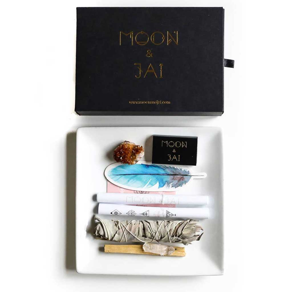 Moon and Jai - Prosperity Ritual Kit with Citrine crystal