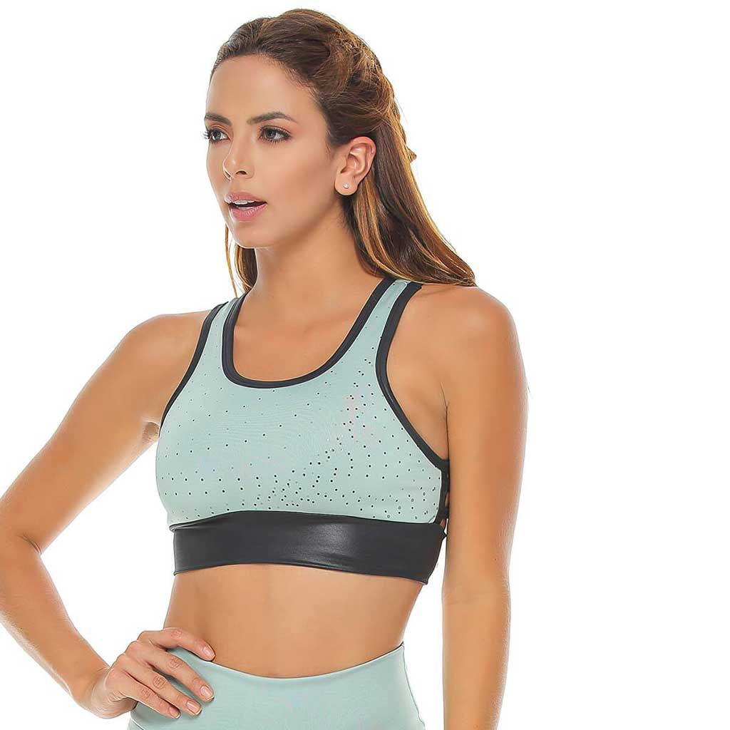 Tera Light Green Sports Bra