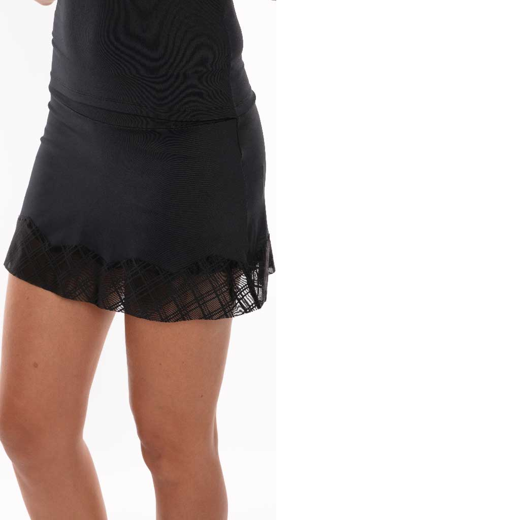 Romance Skort Black - Bluefish Sport - Palm Beach Athletic Wear