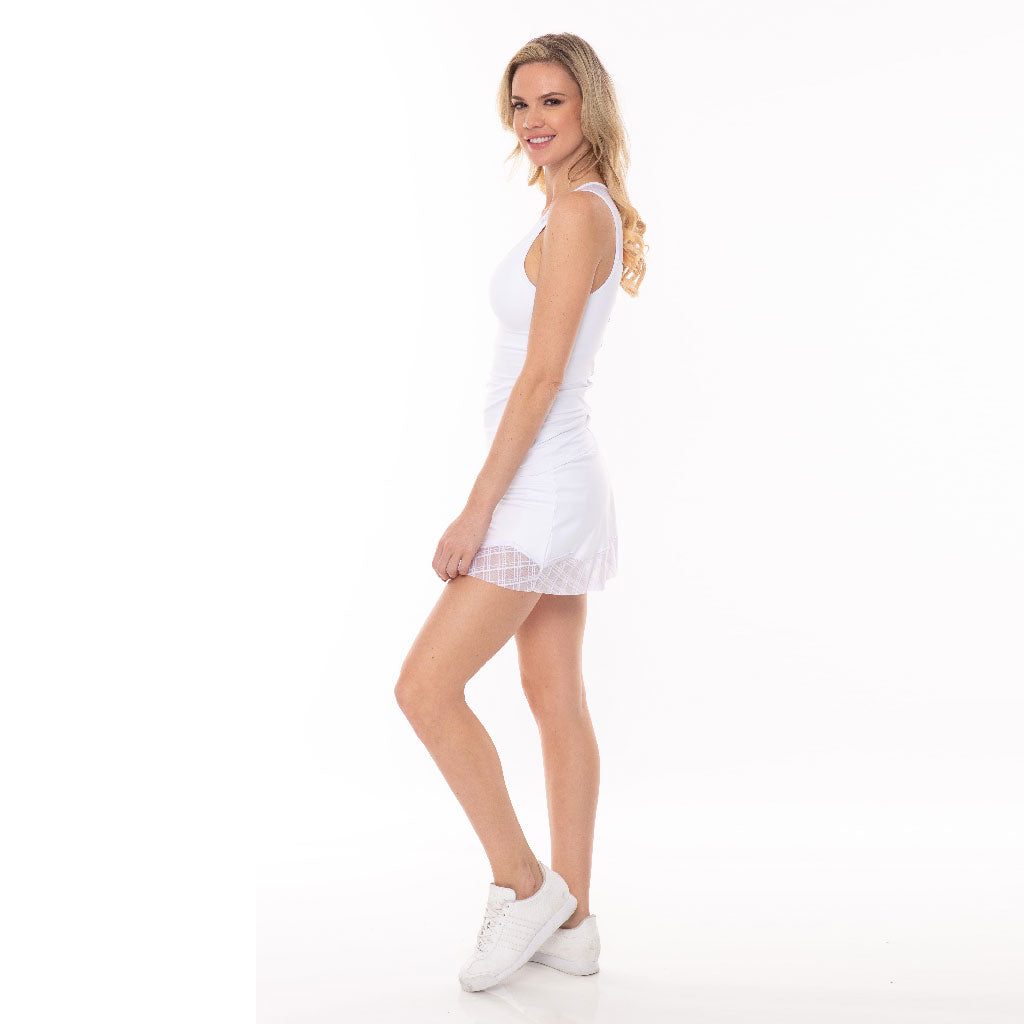 Romance Skort White - Bluefish Sport - Palm Beach Athletic Wear