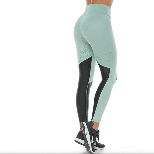 Tera light green activewear leggings by Protokolo.