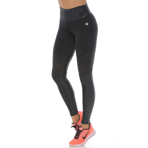 Tera Black - Red Leggings - Protokolo - Palm Beach Athletic Wear