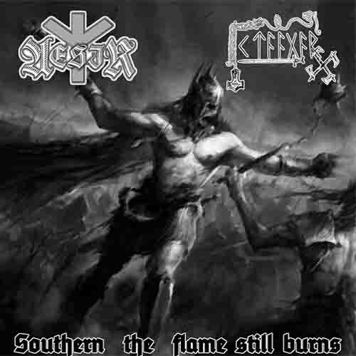 Aesir/K'taagar -  Southern the Flame Still Burn split CD