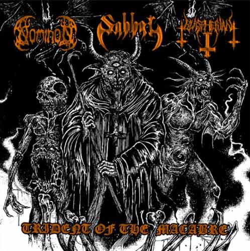 Nominon/Sabbat[JAPAN]/Blaspherian - Trident of the Macabre split CD