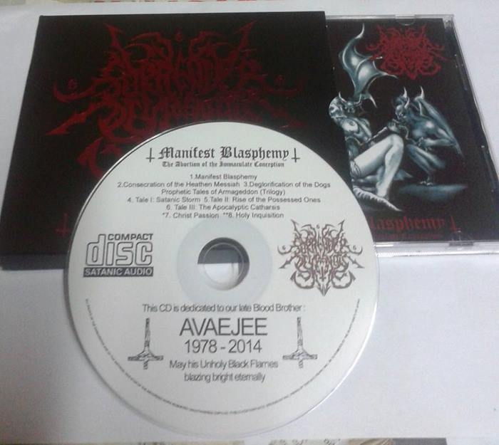 Surrender of Divinity - Manifest Blasphemy: The Abortion of the Immaculate Conception CD