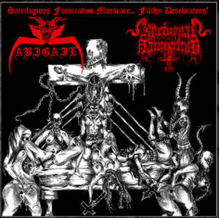 Abigail/Nocturnal Damnation - Sacrilegious Fornication Masscare... split CD