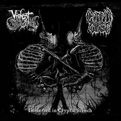 Violent Scum/Coffin Curse - Immersed in Cryptic Stench split CD