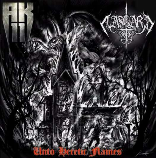 Aasgard/AK-11 - Unto Heretic Flames split CD