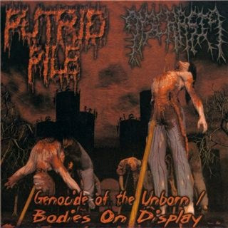Dyscrasia/Putrid Pile - Genocide of the Unborn/Bodies on Display split CD