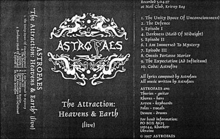 Astrofaes - The Attraction...LIVE TAPE