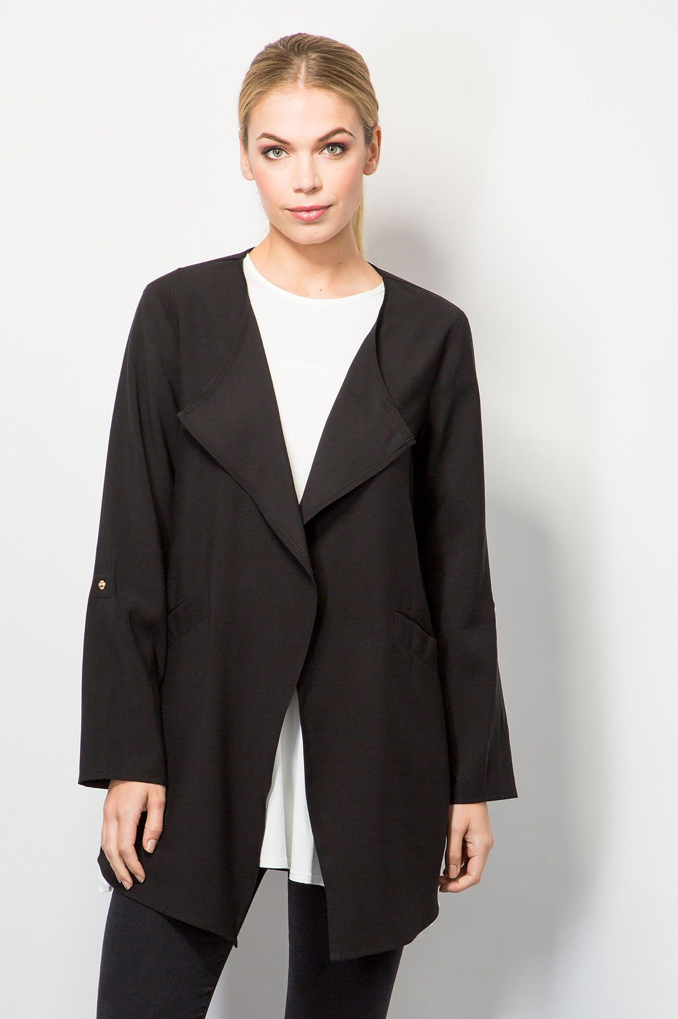 zara nz draped with en drapes of collar from zealand image woman coat coats outerwear new