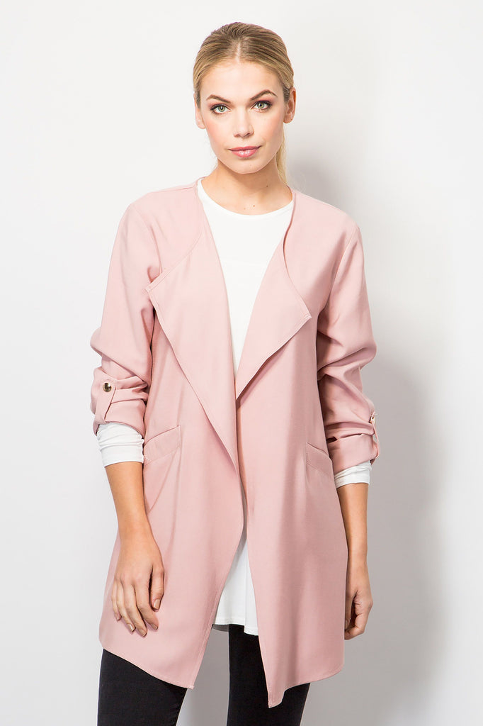 Draped Front Jacket-Jackets-BeBlush