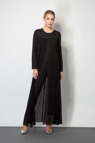 Jumpsuit with Sheer Cape-Jumpsuits-BeBlush