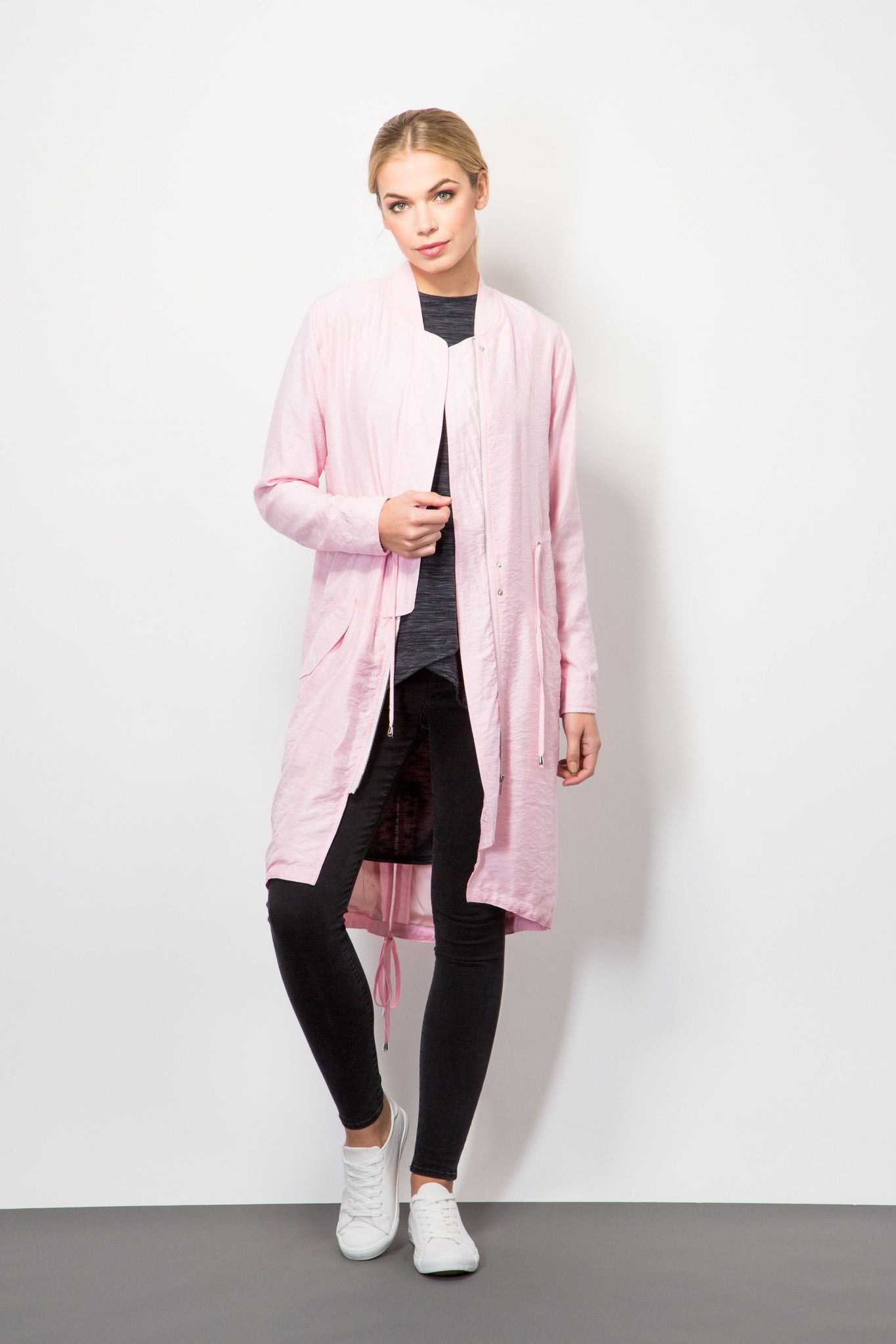 Long Line Bomber-Jackets-BeBlush