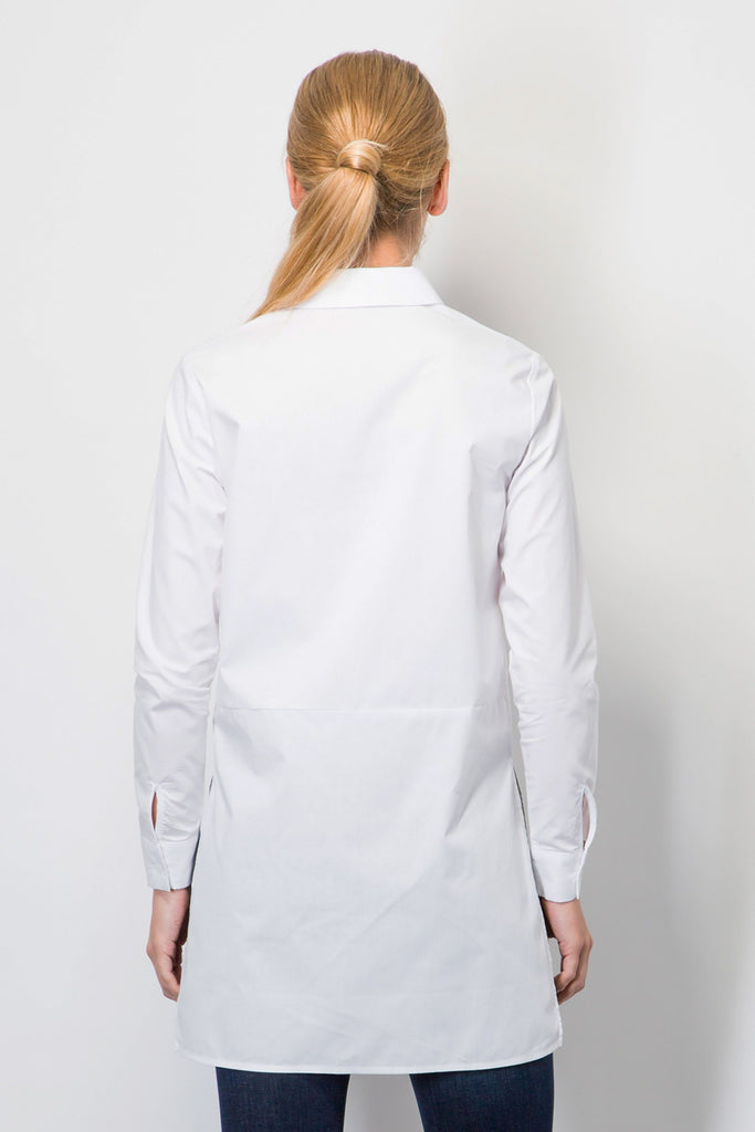 Longline Cotton Shirt-Tops-BeBlush